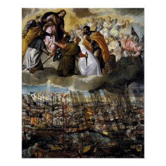 Pictura de Lepanto 1571 Poster