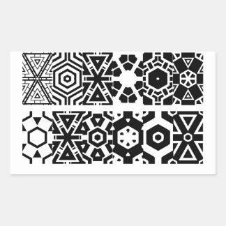 Picture (4) rectangular stickers