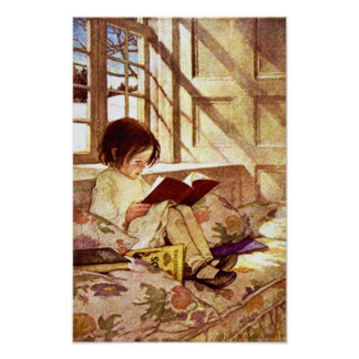 Picture Books in Winter by Jessie Willcox Smith Posters