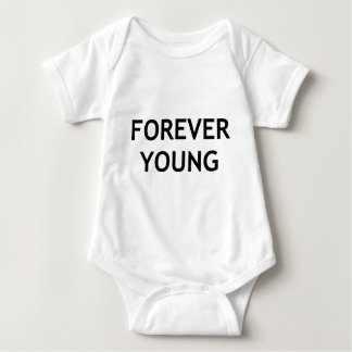 picture forever young baby bodysuit