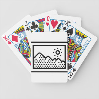 Picture Frame Bicycle Playing Cards
