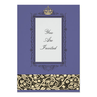 Picture Frame Blue Wedding Invitations