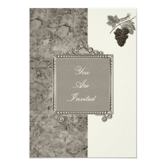 Picture Frame Grape Wedding Invitations
