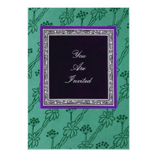 Picture Frame Green Wedding Invitations