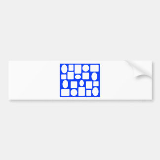 Picture Frame Landscape Blue The MUSEUM Zazzle Bumper Sticker