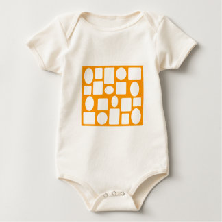 Picture Frame Landscape Orange The MUSEUM Zazzle Baby Bodysuits