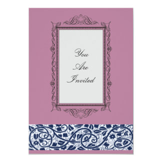 Picture Frame Pink Wedding Invitations