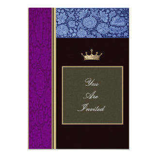 Picture Frame Purple and Blue Wedding Invitations