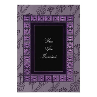 Picture Frame Purple Wedding Invitations