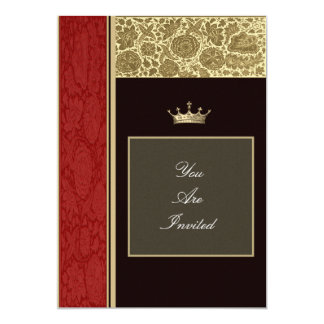 Picture Frame Red and Gold Wedding Invitations