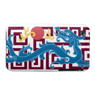 Picture frame with floral pattern of Chinese iPhone 3 Cases