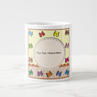 Picture frame with fullcolor butterfly jumbo mug