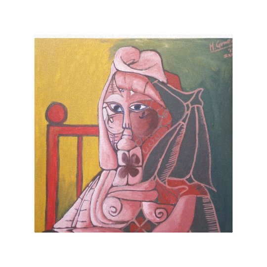 """Picture lady "" Canvas Print"