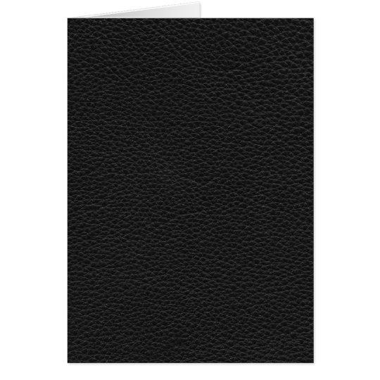 Picture of Black Leather. Card