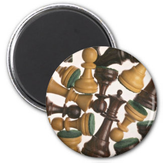 Picture of Chess pieces 2 Inch Round Magnet