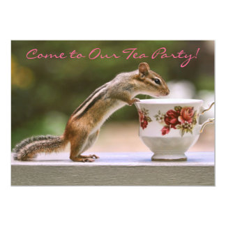 Picture of Chipmunk with China Teacup Card