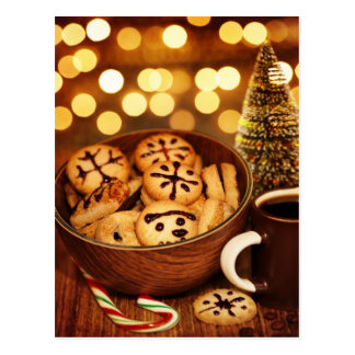 Picture of Christmas time gingerbread Postcard