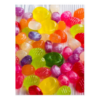 picture of colorful  caramel postcard