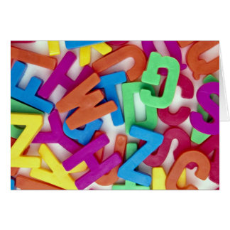 Picture of Colorful plastic letters Card