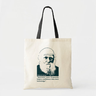 Picture of Darwin and mentions. English. Bag