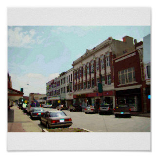 Picture of Downtown Leavenworth, KS, Canvas Poster