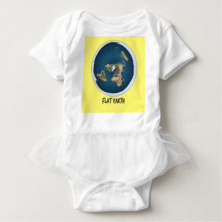 Picture Of Flat Earth Baby Bodysuit