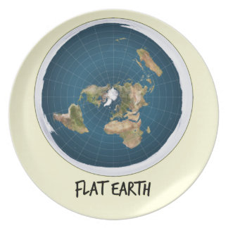 Picture Of Flat Earth Dinner Plates