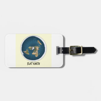 Picture Of Flat Earth Luggage Tag