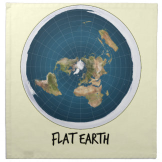 Picture Of Flat Earth Napkin