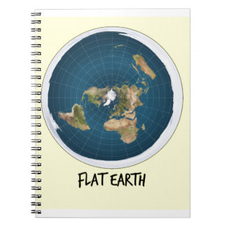 Picture Of Flat Earth Notebook