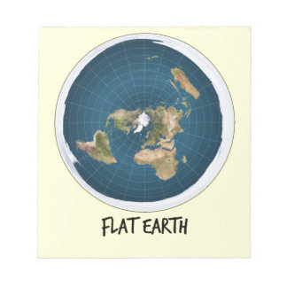 Picture Of Flat Earth Notepad