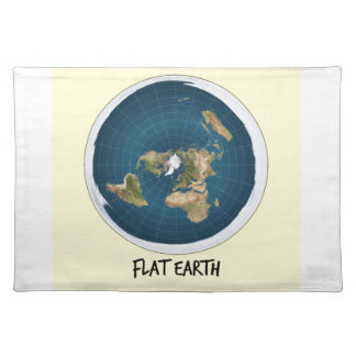 Picture Of Flat Earth Placemat