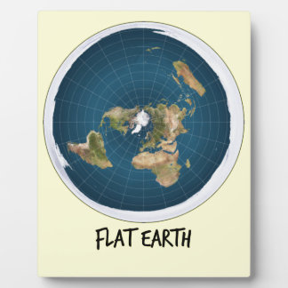Picture Of Flat Earth Plaque