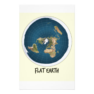 Picture Of Flat Earth Stationery
