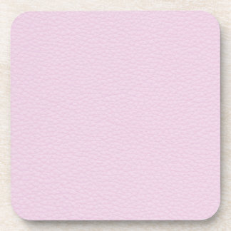 Picture of Light Pink Leather Drink Coaster