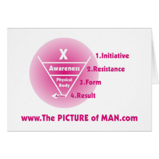Picture of Man - Pink Card