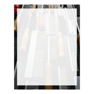 Picture of Pet grooming combs Letterhead Design