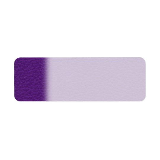 Picture of Purple Leather. Return Address Label