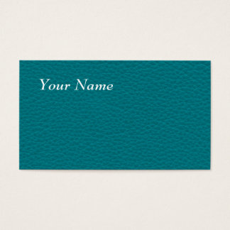 Picture of Teal Leather. Business Card