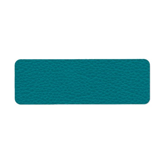 Picture of Teal Leather. Return Address Label