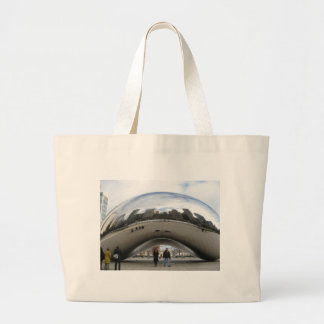Picture of the Bean in Millennium Park Jumbo Tote Bag