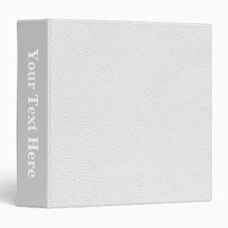 Picture of White Leather. Binders
