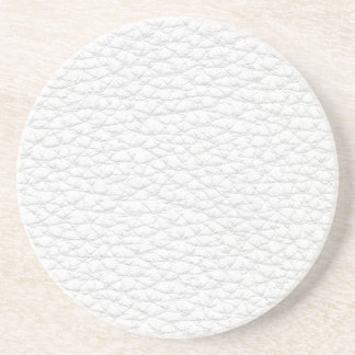 Picture of White Leather. Coaster