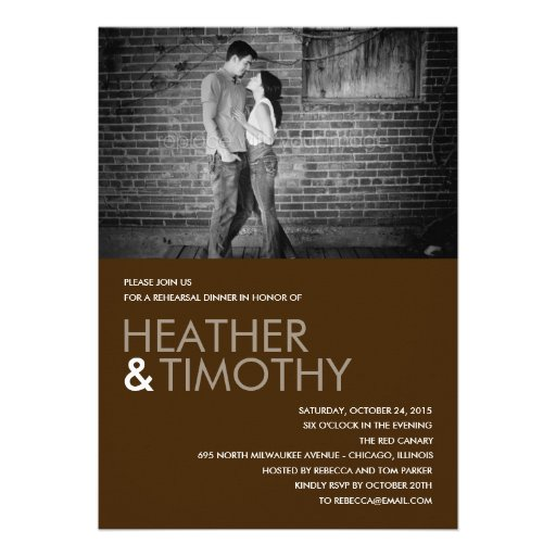 Picture Perfect Rehearsal Dinner/Shower Invitation Custom Invitation