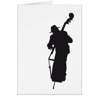 picture postcard silhouette double bass player