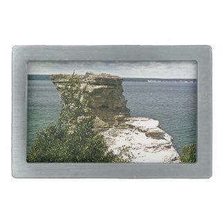 Picture rocks rectangular belt buckles