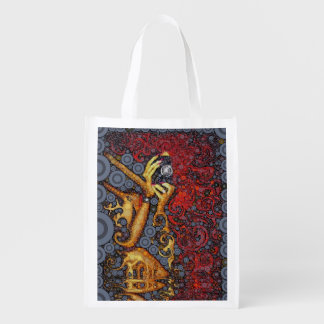 Picture This Abstract Art Reusable Grocery Bags