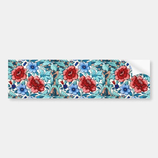 picture with  flowers bumper stickers