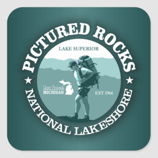 Pictured Rocks NP Square Sticker
