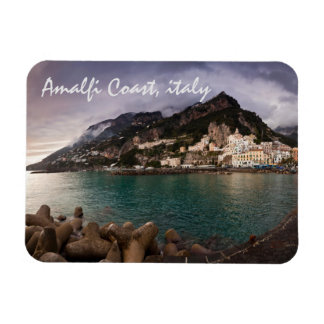 Picturesque Amalfi Coast, Italy Seaside Town Rectangular Photo Magnet